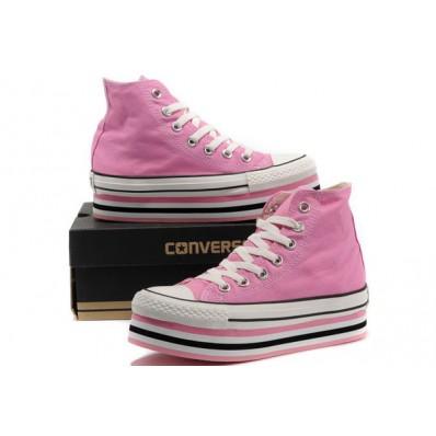 converse all star con zeppa rosa