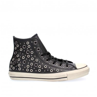 converse all star pelle nere