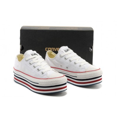 converse all star platform donna bianche