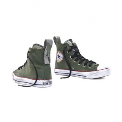 converse all star verde militare