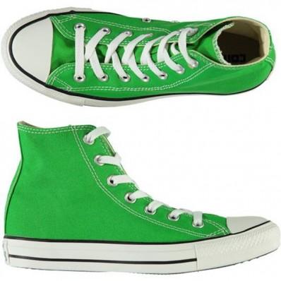 converse alte all star verde