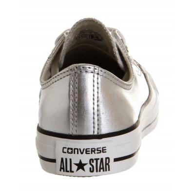 converse argento metallico