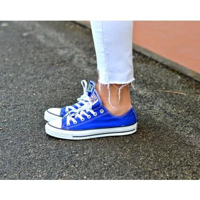 converse blu elettrico donna