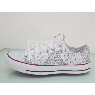 converse donna pizzo bianco basse