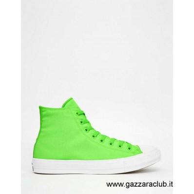 converse fluo verde