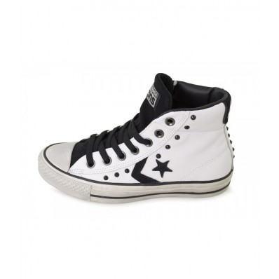 converse in pelle bianche bambino