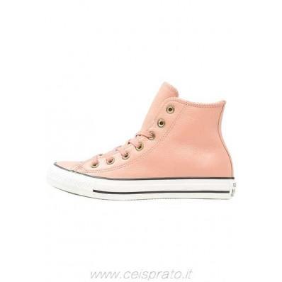 converse in pelle rosa