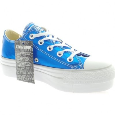 converse platform blu elettrico