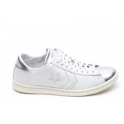 converse pro leather donna argento