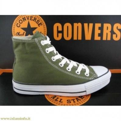 converse verde militare
