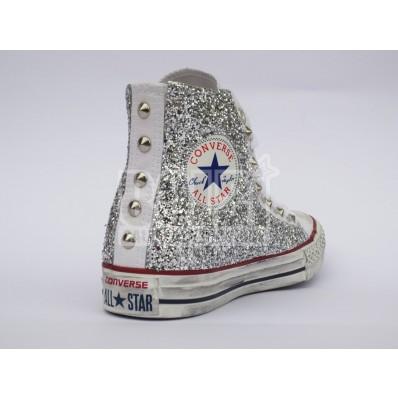 scarpe converse bambina alte bianche