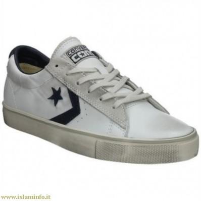 scarpe converse basse pelle