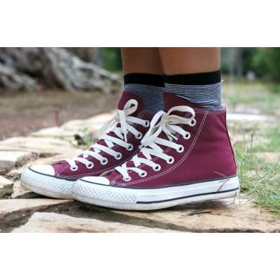 scarpe converse rosse bordo