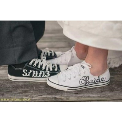 scarpe converse sposa bianche