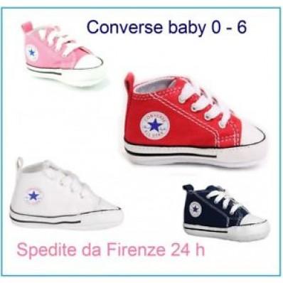 converse rosse neonato