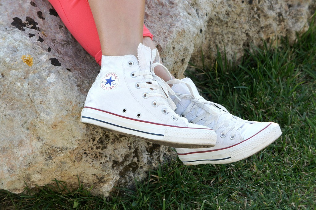 converse bianche donna