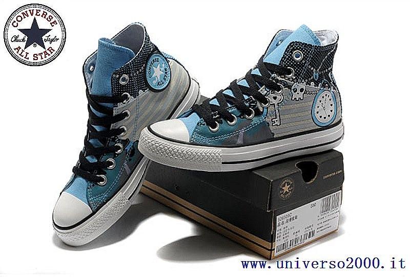 converse sneakers donna alte blu