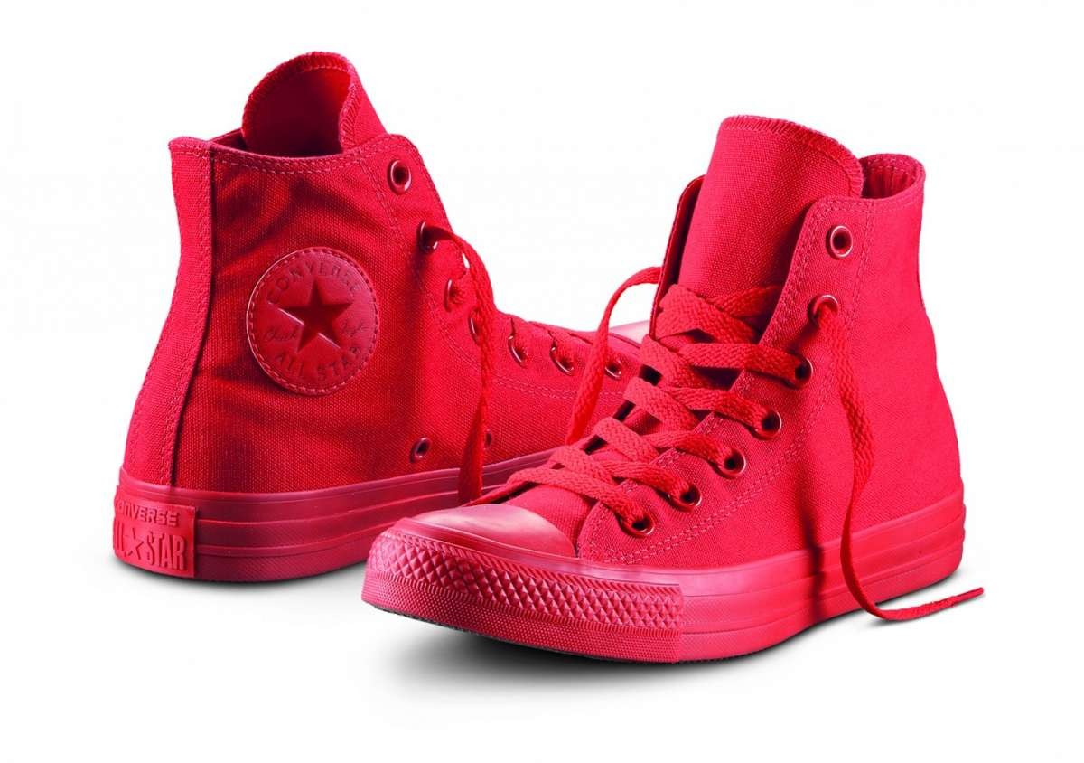converse rosse donna