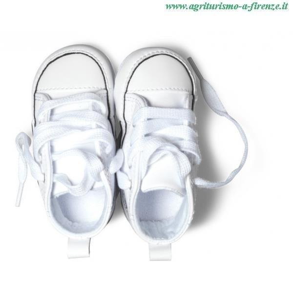 converse neonato bianche