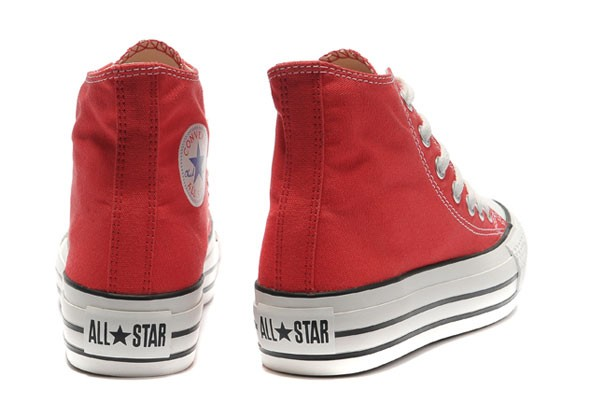 2converse rosse donna
