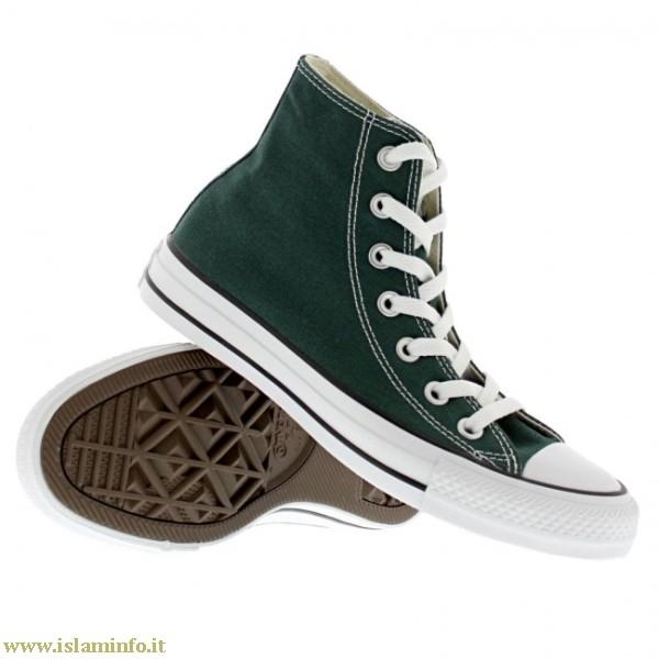 converse verde scuro alte