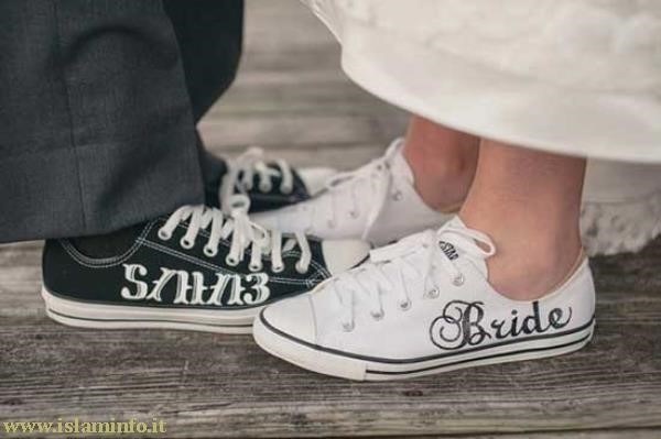 scarpe converse sposa