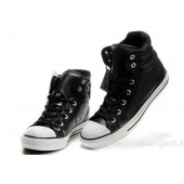 converse chuck taylor all star nere pelle