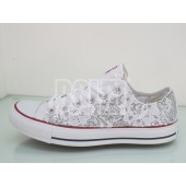 converse pizzo donna bianche
