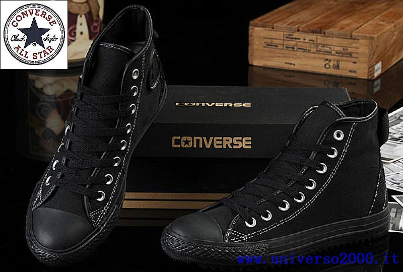 converse all star uomo nere