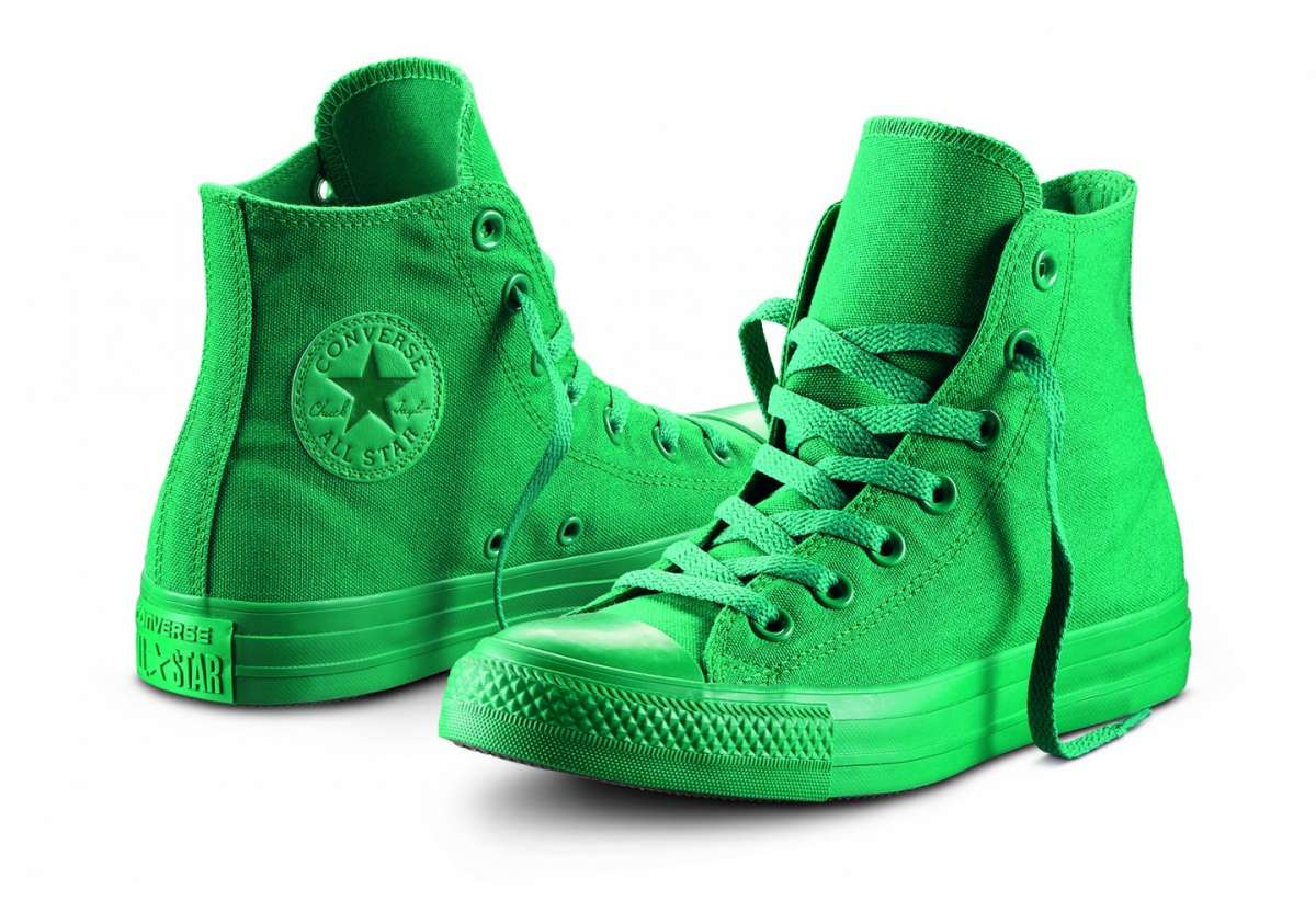 converse all star verde fluo