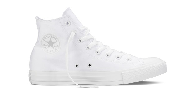 converse bianche all star alte donna