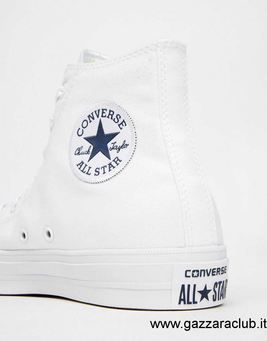 converse chuck taylor all star bianche alte