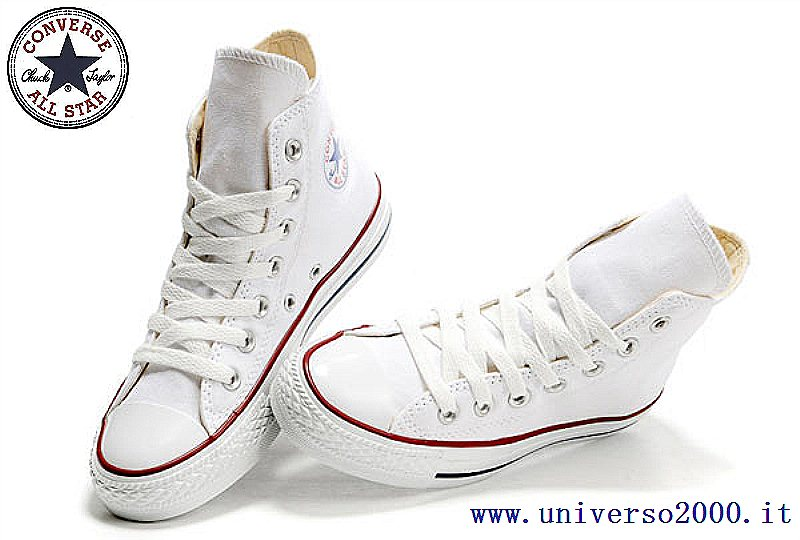 converse chuck taylor bianche alte donna