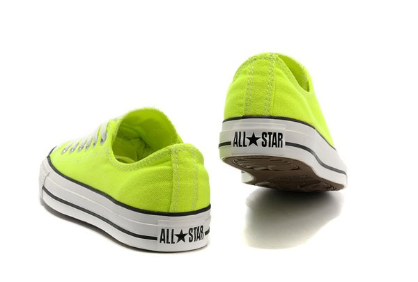 converse gialle fluo basse