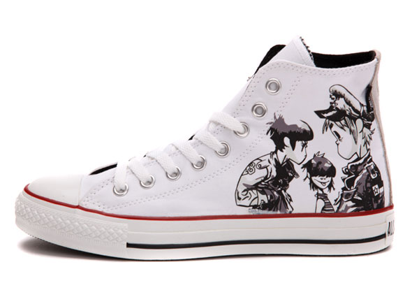 converse high top bianco